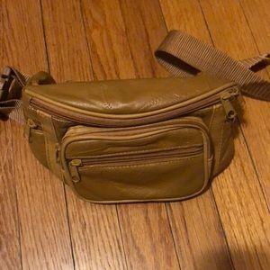 Handbags - Vintage fanny pack mustard tan color